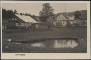 Ansichtskarte Schwarzpfütz Hotel Pension Steyrerfranzl Ringelshain Fr. Redlinger