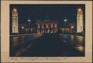 Ansichtskarte Berlin Brandenburger Hindenburgplatz während d. NS-Zeit Propaganda