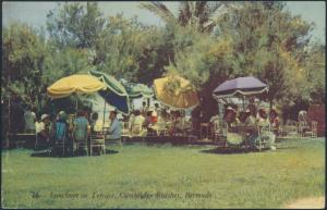 Bermuda Ansichtskarte 108 Hamilton na. Proctor Luncheon on Terrace Cambridge