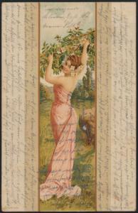 Ansichtskarte Jugendstil Art Nouveau Künstler Frauen Goldbeck n. Gordemitz 1902