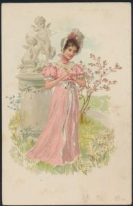 Ansichtskarte Jugendstil Art Nouveau Künstler Frauen ungelaufen
