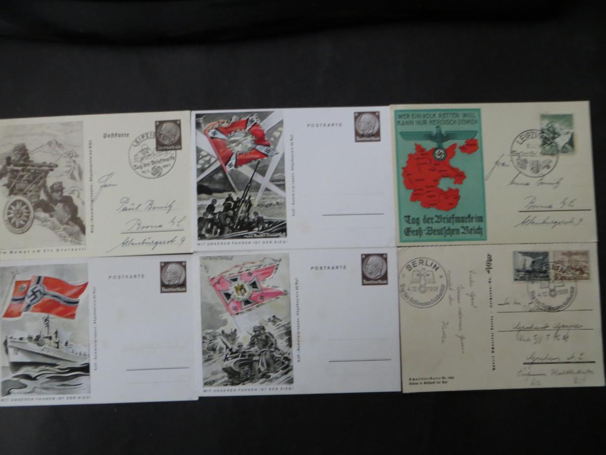 Sammlung 3. Reich + Gebiete Briefe Ganzsachen Ansichtskarten Propaganda  0