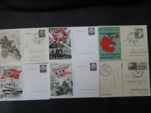 Sammlung 3. Reich + Gebiete Briefe Ganzsachen Ansichtskarten Propaganda