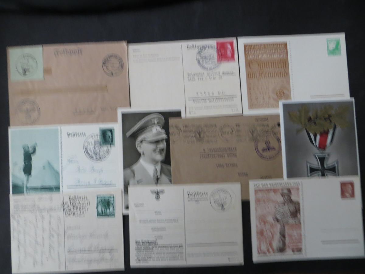 Sammlung 3. Reich + Gebiete Briefe Ganzsachen Ansichtskarten Propaganda  1
