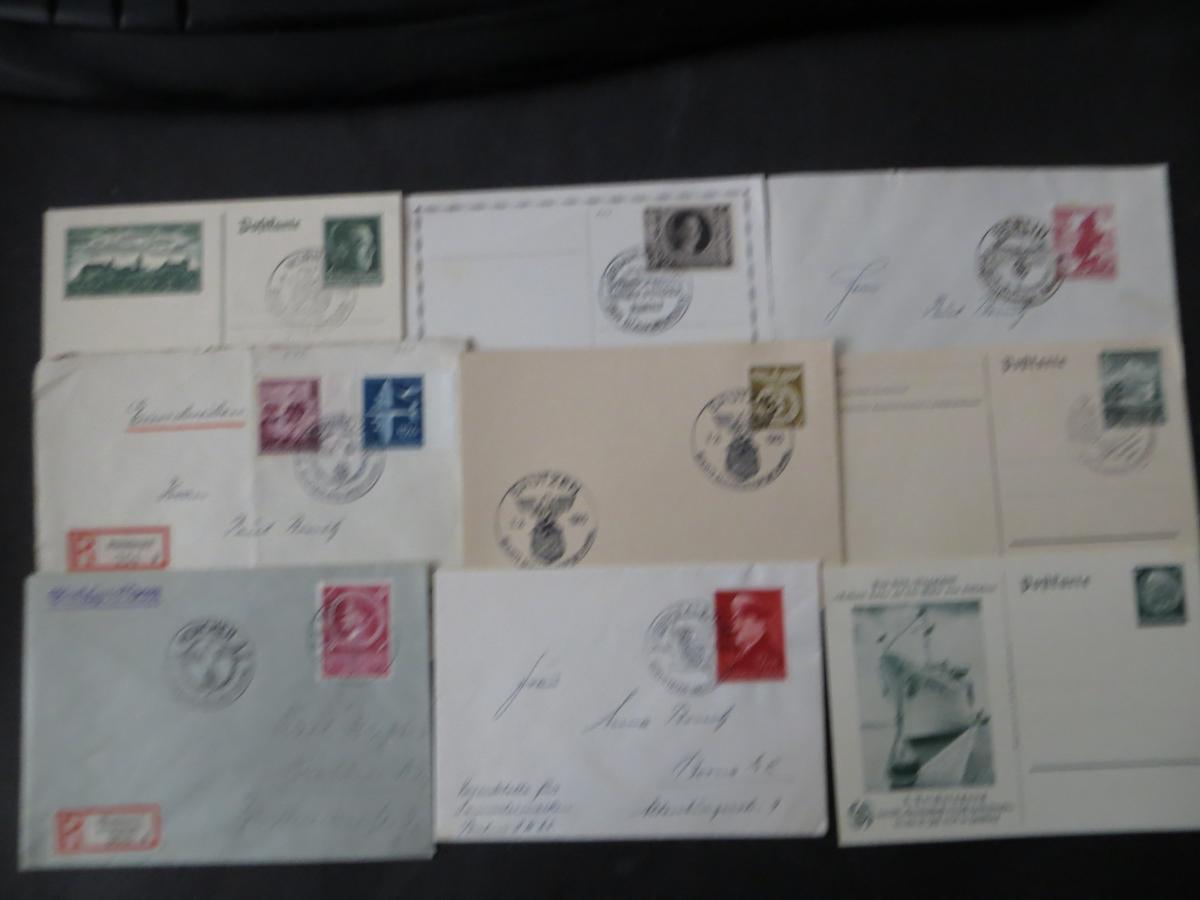 Sammlung 3. Reich + Gebiete Briefe Ganzsachen Ansichtskarten Propaganda  3