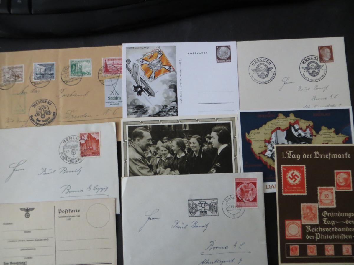 Sammlung 3. Reich + Gebiete Briefe Ganzsachen Ansichtskarten Propaganda  5