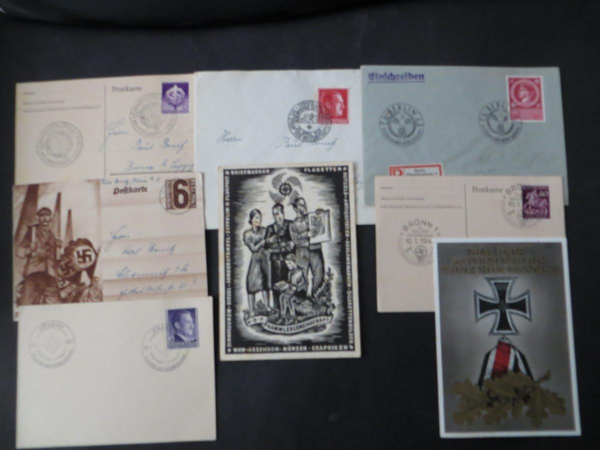 Sammlung 3. Reich + Gebiete Briefe Ganzsachen Ansichtskarten Propaganda  6