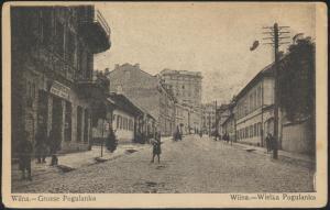 Ansichtskarte Wilna Grosse Poulanka per Feldpost 166 Vilnius Litauen Baltilum