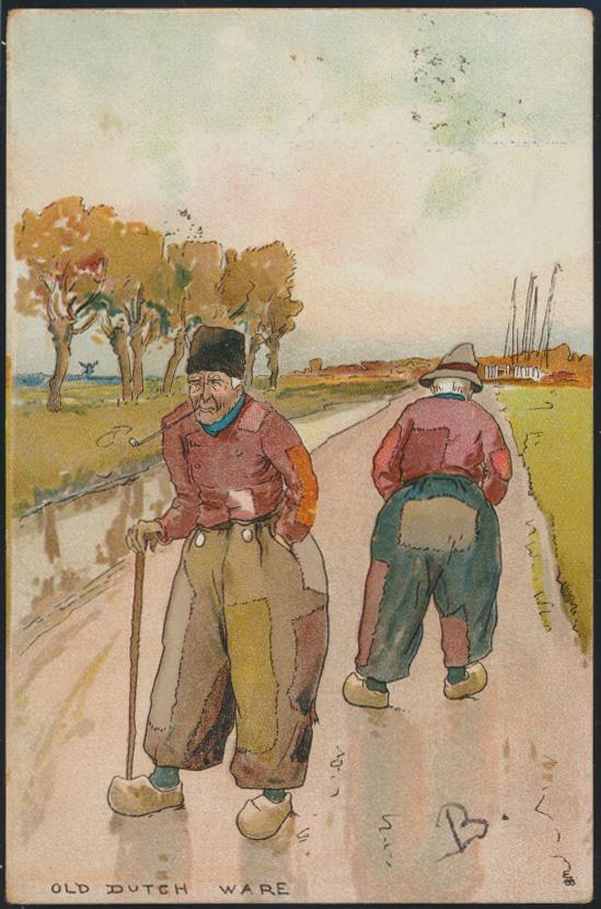 Ansichtskarte Niederlande Kunst Old Dutch Ware Bauern Tracht Deventer na. Kampen 0
