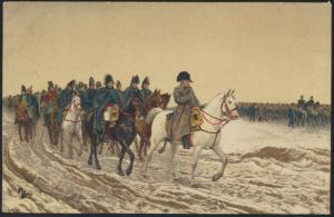 Militaria Ansichtskarte Krieg Künstler Ernest Meissonier Napoleon Pferde Tiere