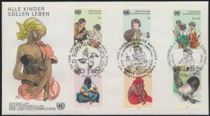 Vereinte Nationen UNO Brief Ersttag Genf Wien New York SST Kindersterblichkeit