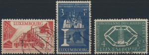 Luxemburg 552-554 Vier Jahre Montanunion gestempelt 1956