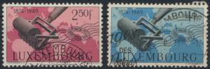 Luxemburg 461-462 75 Jahre Weltpostverein gestempelt 1949