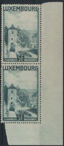 Luxemburg 258  mit Seitenrand Landschaften ungebraucht 1934