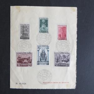 Gedenkblatt Luxemburg Todestag Willibrord 309-314 Folder SST Echternacht 1939