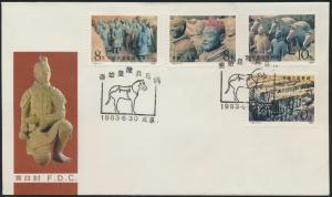 Asia Letter Brief China MIF 1879-1882 FDC Stempel Pferd Tier Tonfiguren Soldaten
