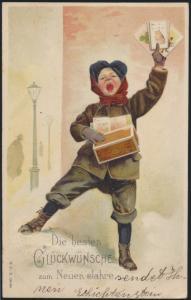 Präge Ansichtskarte Neujahr Ringelheim nach Mönchevahlberg 1905