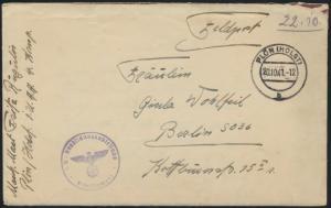 Reich Feldpost Plön n. Berlin vom Masch. Maat incl. zeitgenössischem Inhalt 1941
