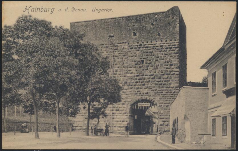 Ansichtskarte Foto Hainburg an der Donau Ungartor Verlag Johann Glück 0