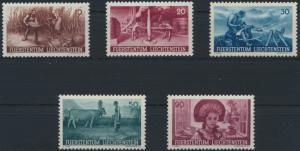 Liechtenstein 192-196 Landwirtschaft tadellos postfrisch