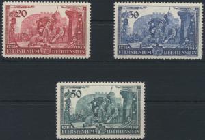 Liechtenstein 180-182 Huldigung Fürst Franz Josef II. tadellos postfrisch MNH