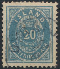 Island 14 Ba Ziffer Krone Ausgabe 1882 gestempelt 0