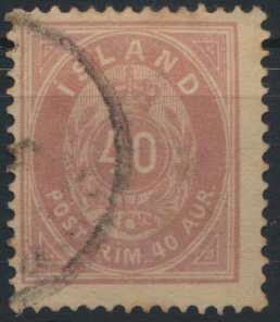 Island 15 A Ziffer Krone Ausgabe 1882 gestempelt