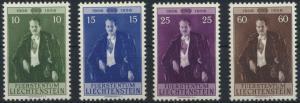 Liechtenstein 348-351 Geburtstag Fürst Franz J. Ausgabe 1956 tadellos postfrisch