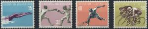 Liechtenstein 365-368 Sport V. Ausgabe 1958 tadellos postfrisch