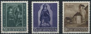 Liechtenstein 374-376 Weihnachten 1958 tadellos postfrisch