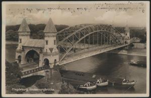 Ansichtskarte Magdeburg Hindenburgbrücke nach Gera