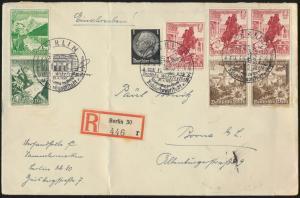 Reich R Brief MIF Zusammendruck WHW S 245 249 SST Berlin Borna