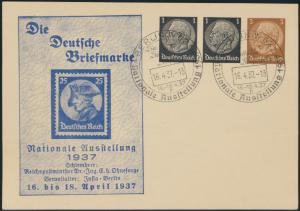Deutsche Reich Privatganzsache PP 136 C1 Briefmarken Aussstellung Berlin SST1937