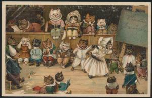 Ansichtskarte Katzen Schule Verlag Theo Stroefer Elberfeld n. Burscheid 1903