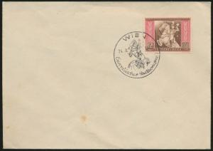Deutsches Reich Brief 822 mit Stempel Österreich Wien Europa Kongreß 1942