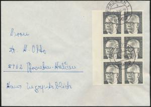 Bund Brief MEF 635 Heinamann Rand 6er Block Pfronten FDC + Tagesersttagsstempel