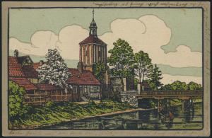 Ansichtskarte Seehausen Altmark Sachsen-Anhalt nach Duisburg handcoloriert