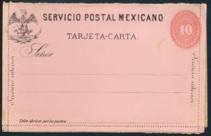 Mexiko Ganzsachen Kartenbrief 10c. rot-rosa mit Adler postal stationery Letter