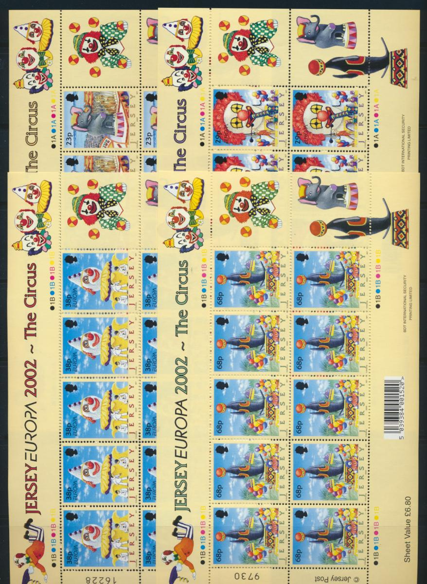 Großbritannien Jersey Kleinbogensatz 1019-22 Blumenfestival Battle of Flowers 0