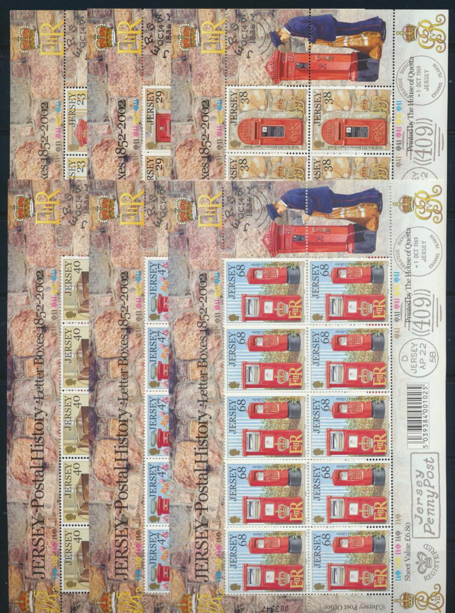 Großbritannien Jersey Kleinbogensatz 1055-60 Post Briefkasten Luxus postfrisch 0