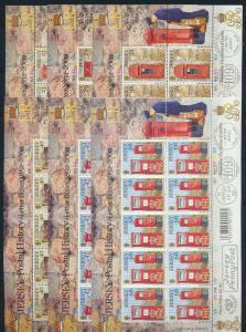 Großbritannien Jersey Kleinbogensatz 1055-60 Post Briefkasten Luxus postfrisch