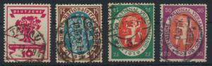 Deutsches Reich 107-100 Nationalversammlung 1919 gestempelt Kat.-Wert 9,00
