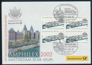 Motiv Philatelie Bund Brief Viererblock 2274 Ausstellung Amphilex Amsterdam
