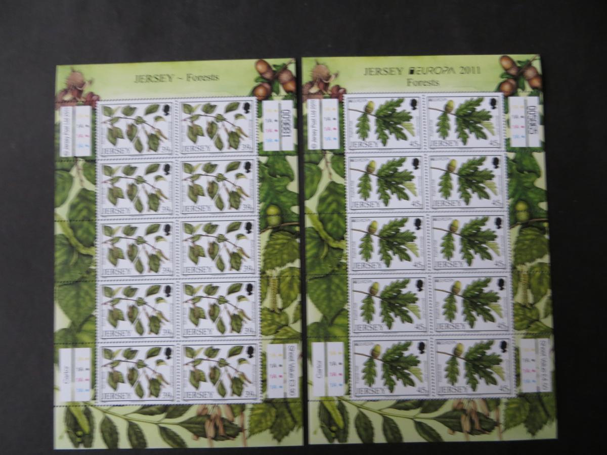 Großbritannien Jersey Kleinbogensatz 1535-38 Laubbäume Europa Luxus postfrisch  0
