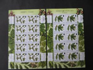 Großbritannien Jersey Kleinbogensatz 1535-38 Laubbäume Europa Luxus postfrisch