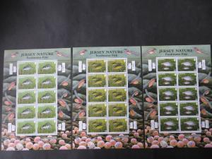 Großbritannien Jersey Kleinbogensatz 1514-19 Fische Angler Luxus postfrisch