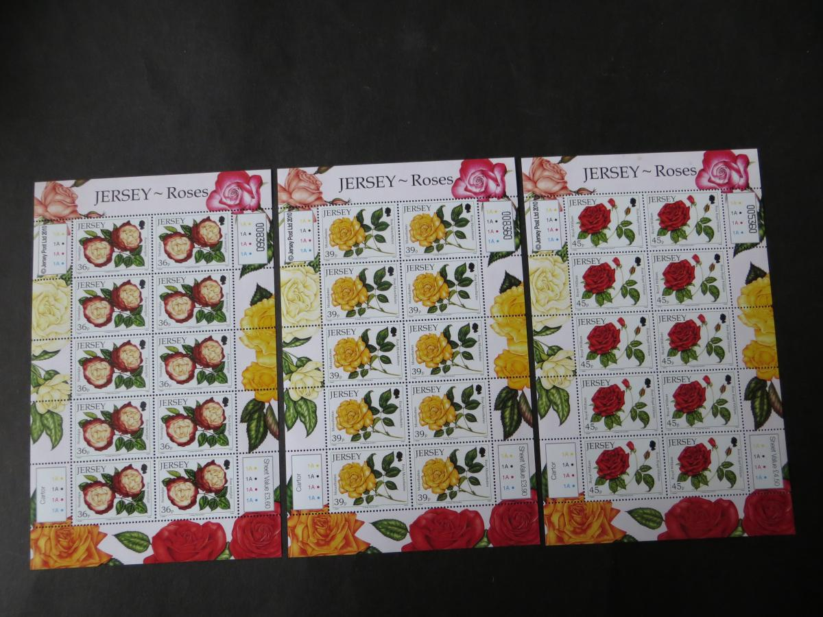 Großbritannien Jersey Kleinbogensatz 1494-99 Rosenausstellung Blumen Festival  0