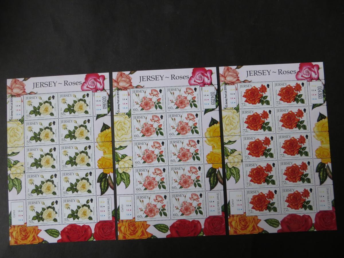 Großbritannien Jersey Kleinbogensatz 1494-99 Rosenausstellung Blumen Festival  1