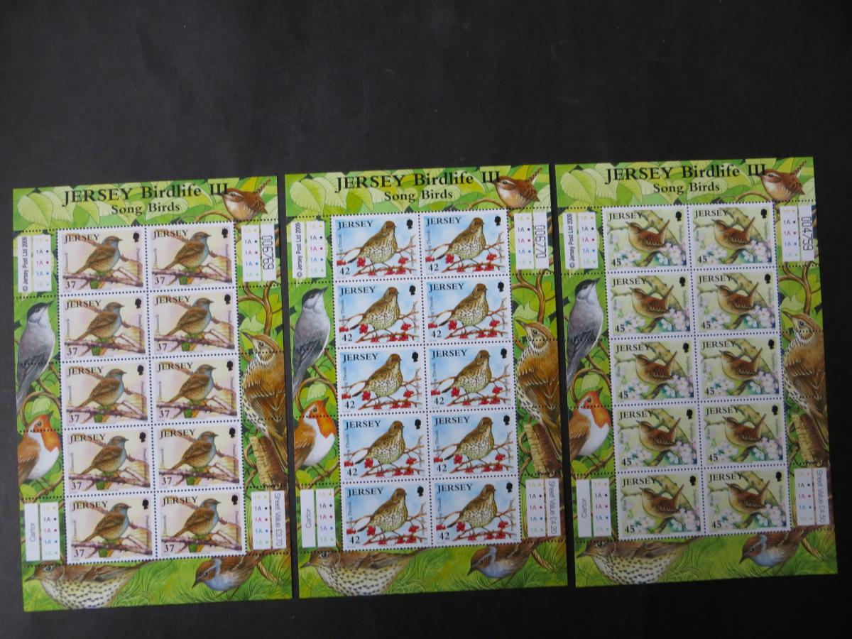 Großbritannien Jersey Kleinbogensatz 1426-31 Singvögel Luxus postfrisch MNH 2009 0