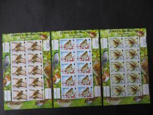 Vögel Großbritannien Jersey Kleinbogensatz 1426-31 Singvögel Luxus postfrisch